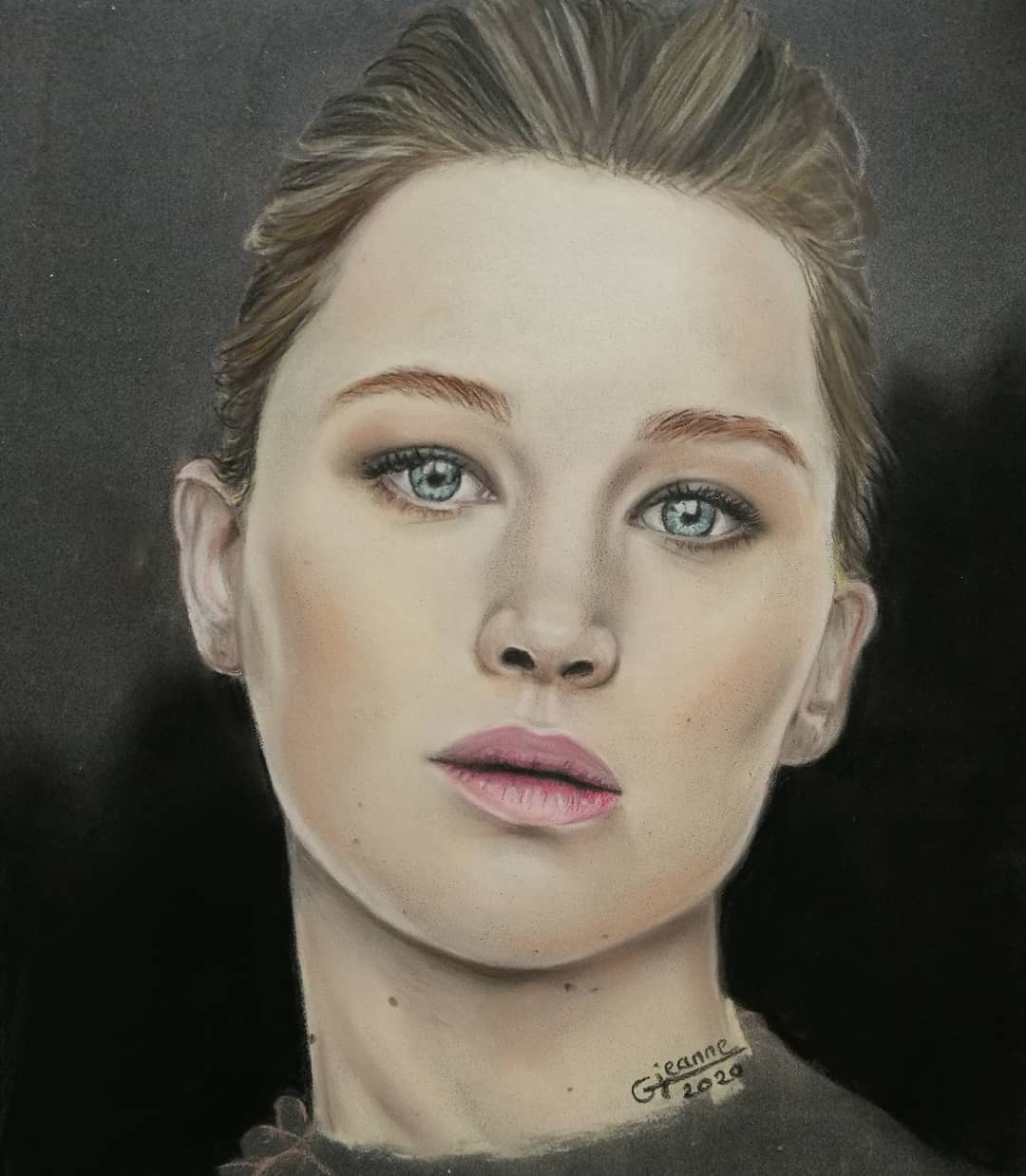 portrait fan art jennifer lawrence