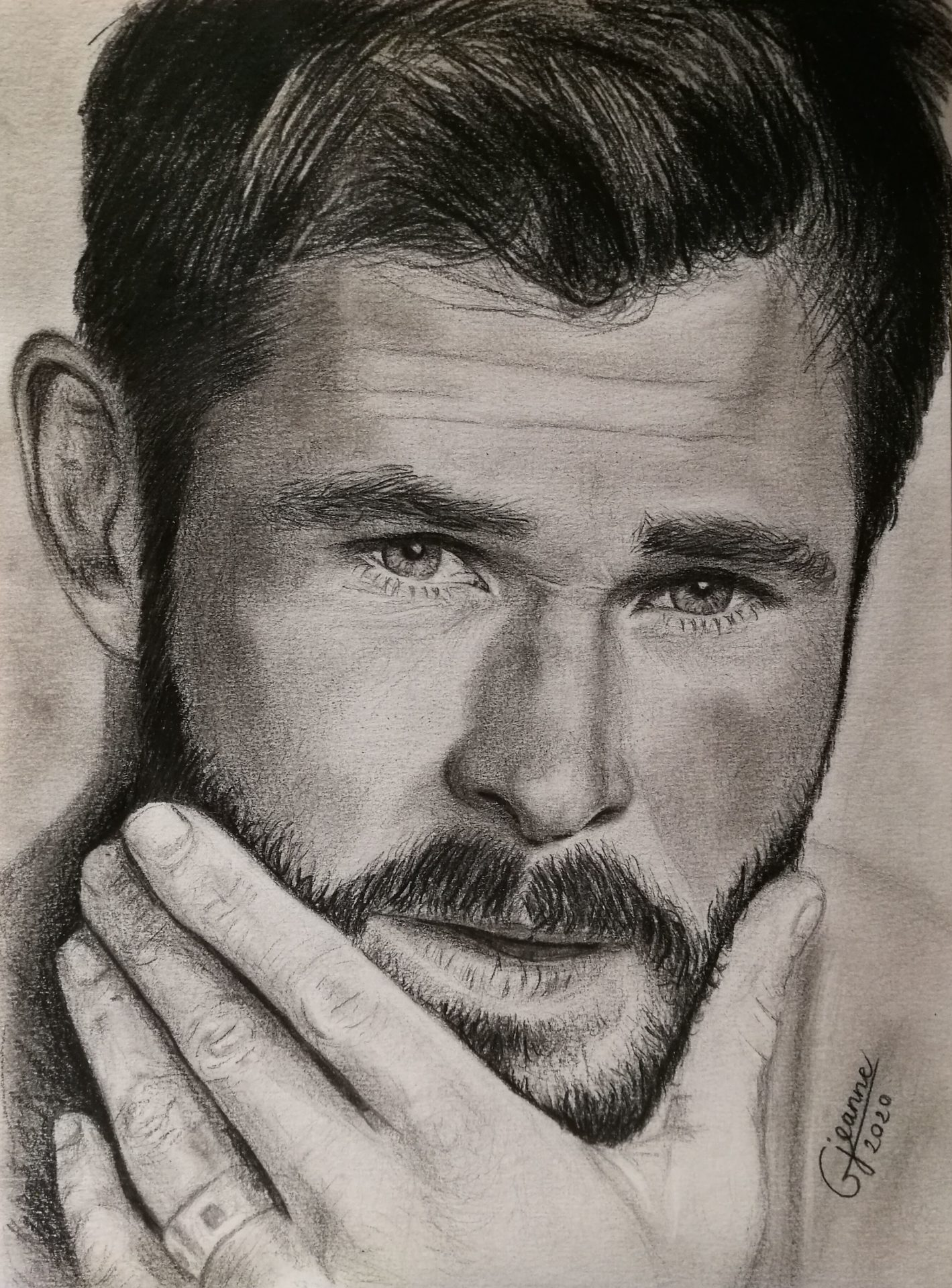 portrait fan art Chris Hemsworth