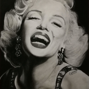 portrait fan art Marylin Monroe