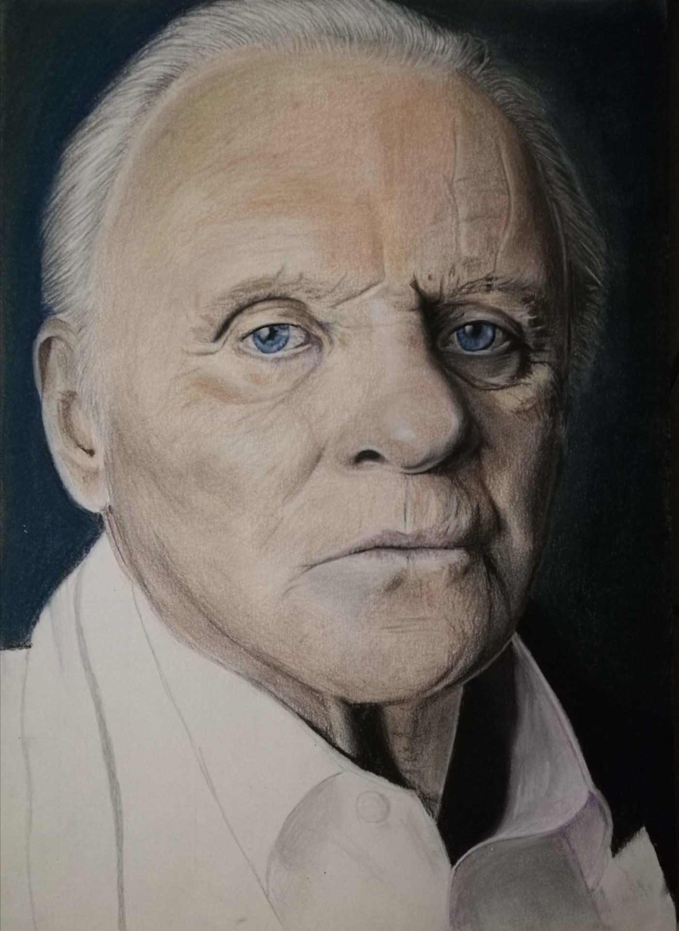 portrait fan art Anthony Hopkins