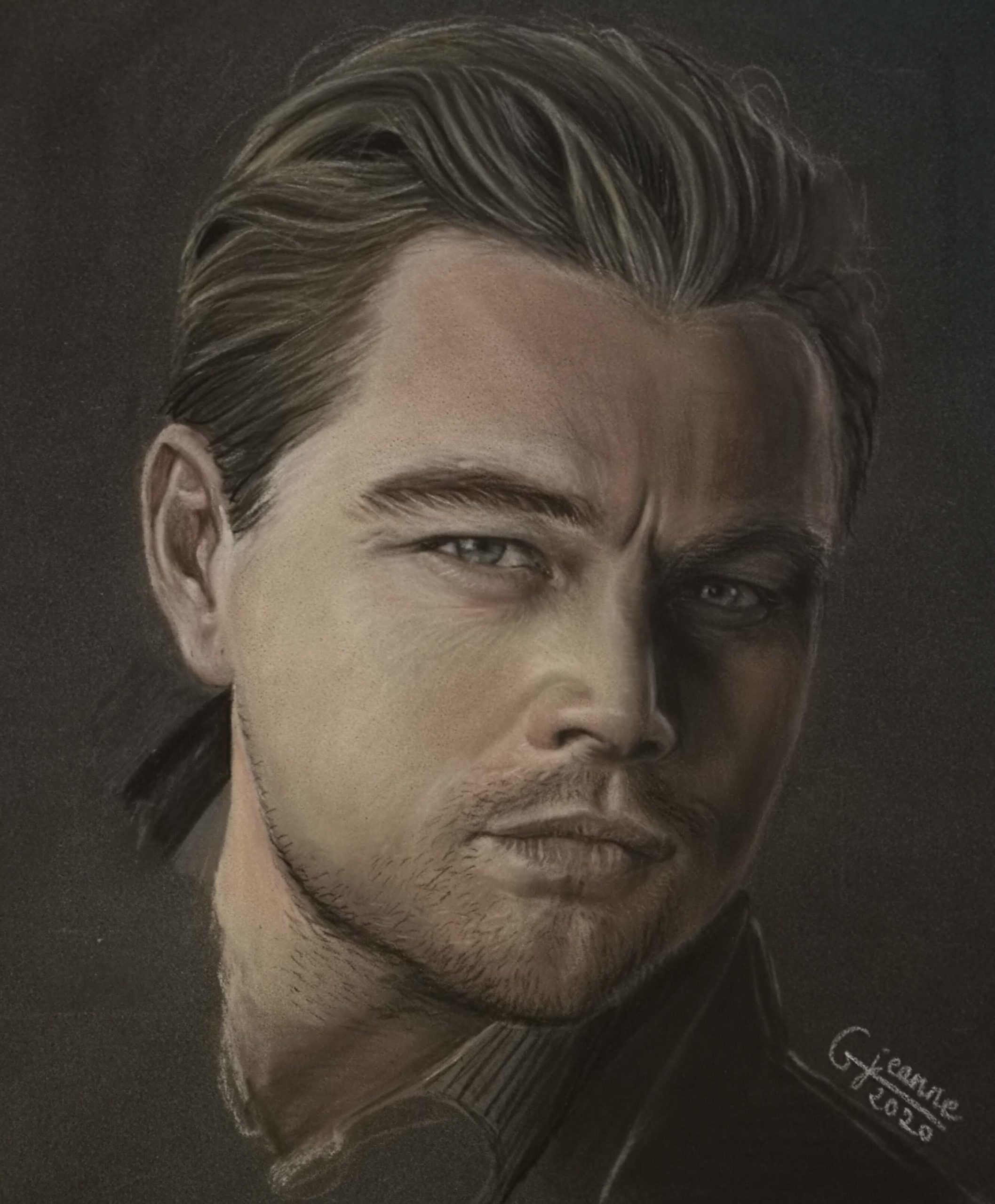 portrait fan art Léonardo DiCaprio